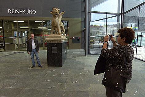 Markus Löwe am Hauptbahnhof