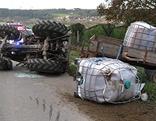 Traktor umgekippt