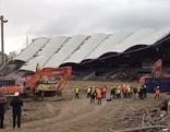 Hanappi-Stadion-Dach wird abgerissen