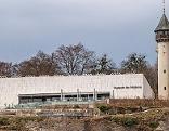 Das Museum der Moderne auf dem Mönchsberg in der Stadt Salzburg