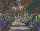 Weg in Monets Garten in Giverny