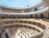 Eine Illustration zeigt den geplanten Nationalratssitzungssaal