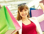 Shopping Frau glücklich