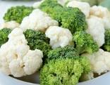 Brokkoli und Karfiolröschen