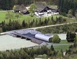 Visualisierung der geplanten Kraftwerkstufe Stegenwald bei Werfen