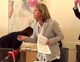 Barbara Unterkofler (NEOS) bei Sitzung des Salzburger Stadtsenats