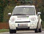 Elektroauto auf der Straße