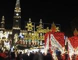 Christbaum am Rathausplatz Wiener Adventzauber