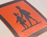 Schild: Kind im Straßenverkehr
