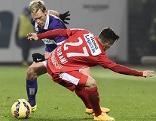 Thomas Salamon (FK Austria Wien) und Eldis Bajrami (FC Admira Wacker Mödling)