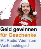 Weihnachtsgewinnspiel auf Radio Wien