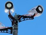 LED beleuchten Skipisten