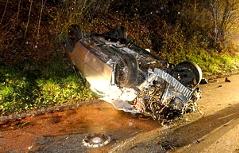 Autowrack nach Verkehrsunfall