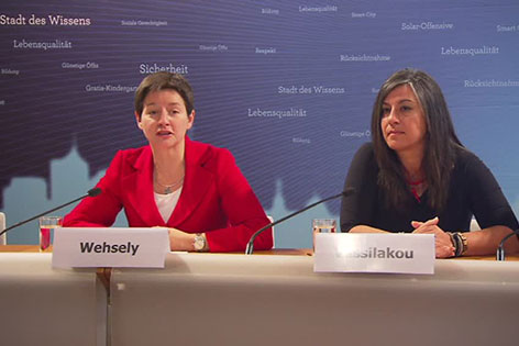Sonja Wehsely und Maria Vassilakou