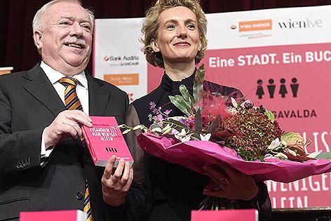 Bürgermeister Michael Häupl und die französische Bestseller-Autorin Anna Gavalda
