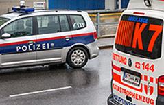 Polzeiauto und Rettungsauto