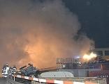 Schrottplatz in Brand