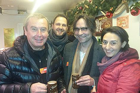 Leila Mahdavian, Udo Huber, Georg Holzer und Martin Todt