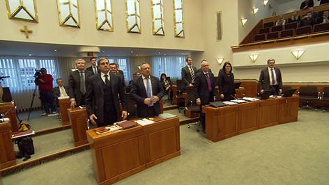 Verfassungsreform, Landtag, Abstimmung