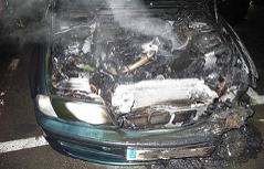 Auto ausgebrannt