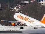 Abhebender Jet in Innsbruck