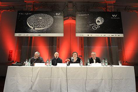 Festwochen Pressekonferenz mit  Wolfgang Schlag, Stefan Schmidtke,  Markus Hinterhäuser, Wolfgang Wais