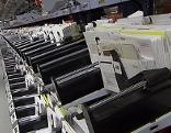 Sortiermaschine im Post Verteilerzentrum Wals