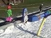 Skifahren wenig Schnee