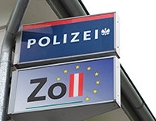 Polizeistation am Grenzübergang