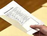 Wahlzettel der Gemeinderatswahl