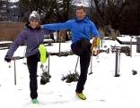 Doresia Krings und Michael Mayerhofer beim Beinschwingen