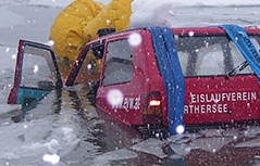 Eiswagen Auto Silbersee eingebrochen