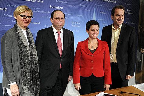 Sandra Frauenberger, Thomas Szekeres, Sonja Wehsely, Christian Meidlinger