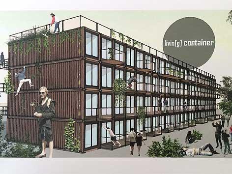 wohnen im container wohnen im container haus dekoration. Black Bedroom Furniture Sets. Home Design Ideas