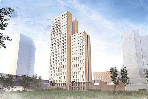 Das größte Holzhochhaus der Welt wird ab Frühling 2016 in der Wiener Seestadt Aspern gebaut.