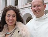 Abt Maximilian Heim, Timna Brauer und Pater Karl Wallner