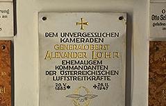 Ehrentafel für Kriegsverbrecher Löhr in der Stiftskirche