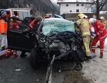 Wrack des Unfallwagens