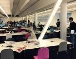 Deckenlampe in der Bibliothek der neuen WU abgestürzt