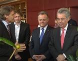 Bundespräsident Fischer bei Firma Schärf