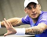 Andreas Haider Maurer beim Daviscup gegen Schweden