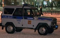 Russisches Polizeiauto
