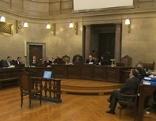 Prozess um Absprachen bei Fernwärme. Angeklagte im Gerichtssaal