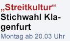 Promobutton Stichwahl Klagenfurt Streitkultur