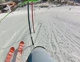 Slalom aus der Perspektive des Skirennläufers