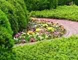 englischer Garten im Frühling