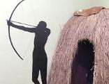Grashütte steinzeitlicher Jäger
