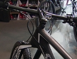 Lenker eines High Tech Mountainbikes