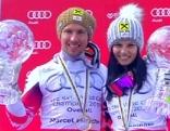 Die Gesamtweltcupsieger Marcel Hirscher und Anna Fenninger