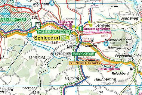 Karte der Tiefsteinklamm bei Schleedorf (Flachgau)